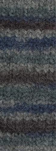 Lana Grossa Feltro Color Mélange 1009 - Brombeer/Jeansblau/Grau/Graugrün