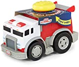 Slammin' Racers- fire engine races over 15+ feet per slam! Big, durable slam button Designed for the most active child Awesome fire engine design and realistic sounds Collect them all!