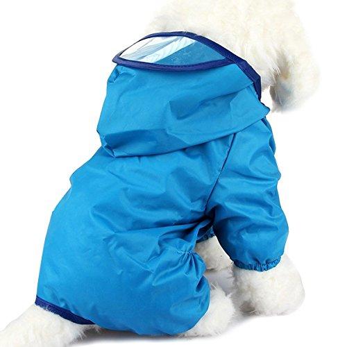 PETCUTE Chubasquero para Perros Chaqueta Impermeable para Mascota Ropa Chubasqueros con Capucha para Medianas y Grandes Perros