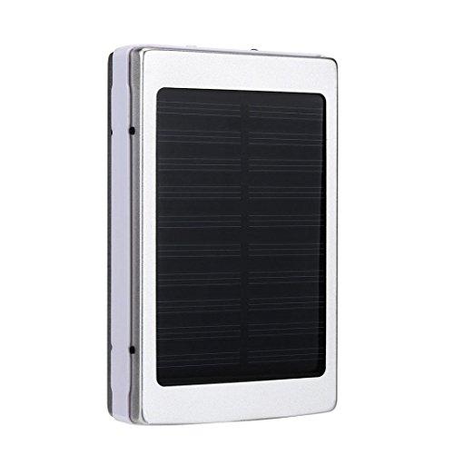 hunpta 30000mAh dual usb Portable Solar Batería Cargador Power Bank para móvil