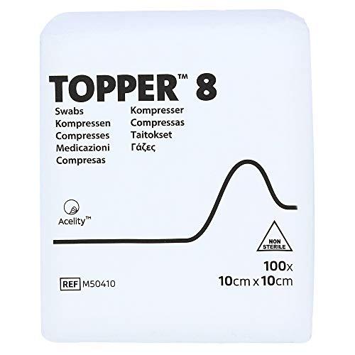 TOPPER 8 Kompr.10x10 cm unsteril 100 St