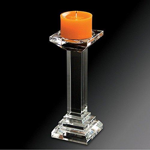 Castiçal Prestige de Vidro Óptico Pillar 9 x 23 cm
