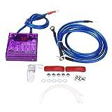 Fydun Estabilizador De Voltaje, Kit Universal De Regulador De Ahorro De Combustible Para AutomóVil Con 3 Cables De Tierra Para El CamióN Del VehíCulo(Púrpura)