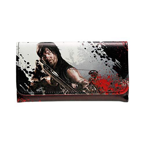 ArtZhou Walking Dead Cartera Bolso para Mujer Bolsos para Mujer Tarjetero para Mujer Dft1288