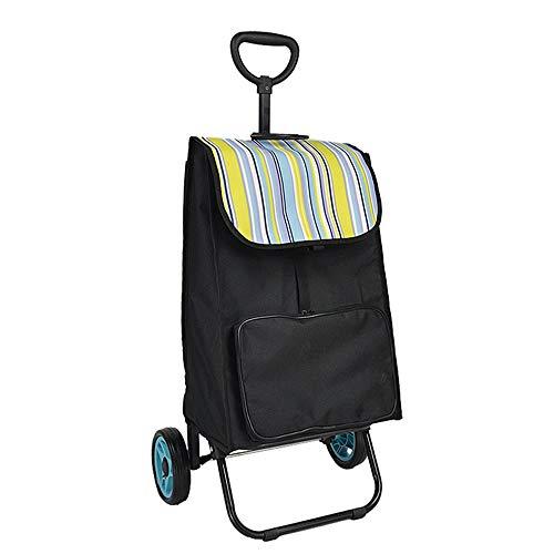 LNYJ Carro de la compra de gran capacidad carro de equipaje plegable carro de mano telescópico portátil desmontable comprar plato el coche puede subir las escaleras al aire libre viajar camping picnic
