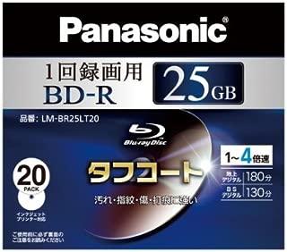 パナソニック ブルーレイディスク 録画用4倍速 25GB(単層 追記型) 20枚パック LM-BR25LT20