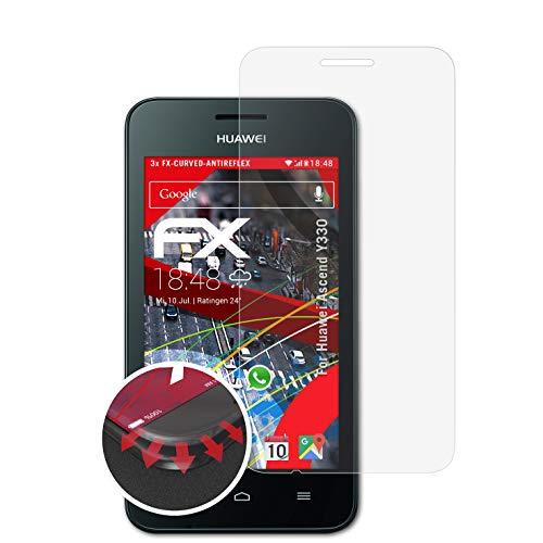 atFolix Schutzfolie kompatibel mit Huawei Ascend Y330 Folie, entspiegelnde & Flexible FX Bildschirmschutzfolie (3X)