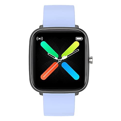 Smartwatch Damen and Herren, Fitness Wristwatch with Heart Rate Monitor & Fitness Tracke für iPhone mit Android-Handys Kompatibel mit iPhone Samsung, Pulsmesser am Handgelenk Wasserdicht IP68