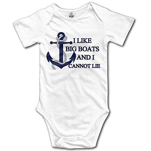 dhdhgdfj Body bébé à Manches Courtes Combinaison Unisex Baby I Like Big Boats and I Cannot Lie Printed Short-Sleeve Bodysuits Asimple Joys Jumpsuit Button Climbing Suit Gift