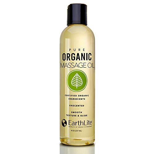 Best Buy! EARTHLITE Pure Organic Massage Oil - NEW 2019 - Chemical Free, 100% Certified Organic, Fin...