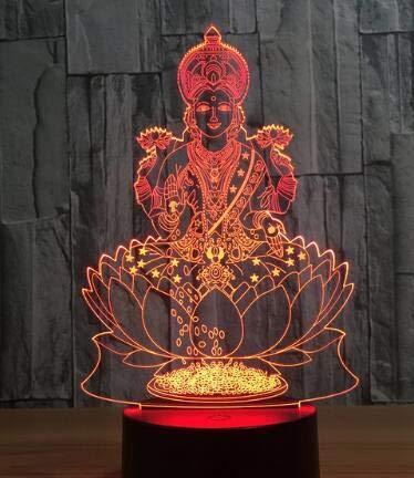 LED Desk lamp 3D Elephant Buddha lamp Office Decoration Gift