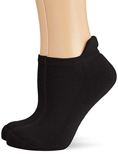 Hudson Damen Sneaker Socken mit Plüschsohle, 025037 Only Plush, 2er Pack, Gr. 35/38, Schwarz (Black 0005)