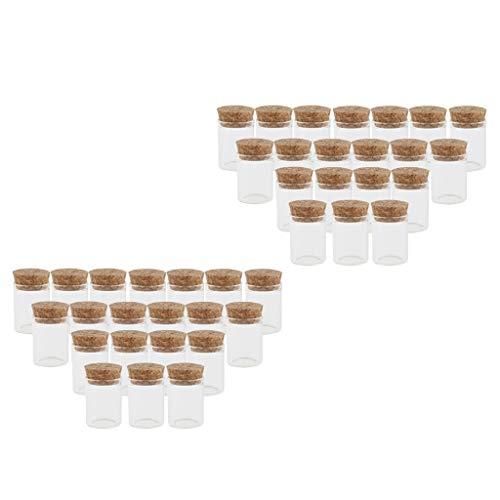 Yotijar Mini tarros de cristal de 10 ml con corcho – Paquete de 40