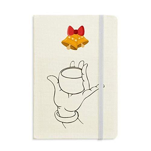 Culture Handschale mit Zeilenmuster, Notizbuch, Notizbuch, Jingling Bell