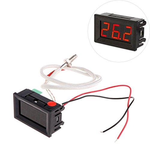 BIlinli XH-B310 Digital Thermometer 12 V Temperaturmessgerät K-typ M6 Thermoelement Tester