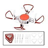 HUANRUOBAIHUO 4PCS for MITU Hélice Garde et Hélice for mi MITU caméra Drone Housse de Protection Lame Protector Props Jouets Pièces de Rechange Accessoires Wing (Color : White)
