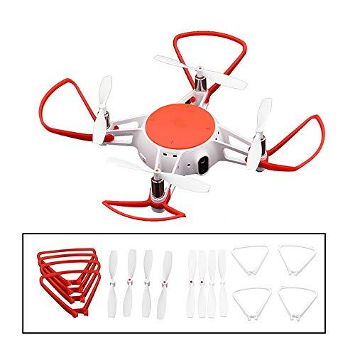 XUSUYUNCHUANG 4PCS for MITU Elica Guardia & Elica for Mi MITU Camera Drone della Calotta di Protezione della Lama Props Protector Giocattoli Ricambi Accessori Drone (Color : Red)