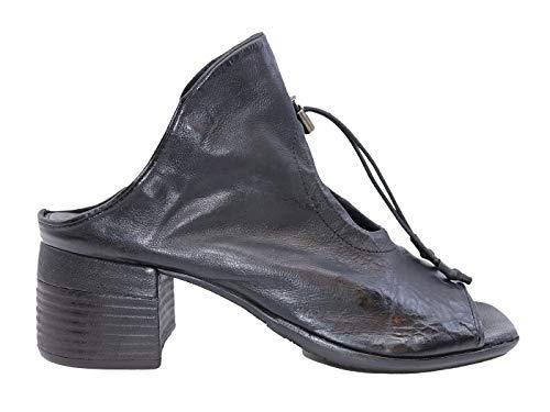 A.S. 98 A19001 - Sandalias de mujer de piel negra Negro Size: 40 EU