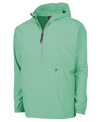 Charles River Apparel Pack-N-Go Wind & Water-Resistant Pullover (Reg/Ext Sizes), Mint, L