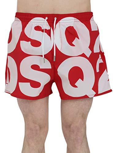 DSquared Uomo Costume Mare Logato Rosso Mod. D7B643840 48