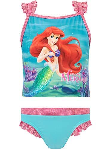 Disney Mädchen Arielle, die Meerjungfrau Zweiteiliger Badeanzug Blau 110