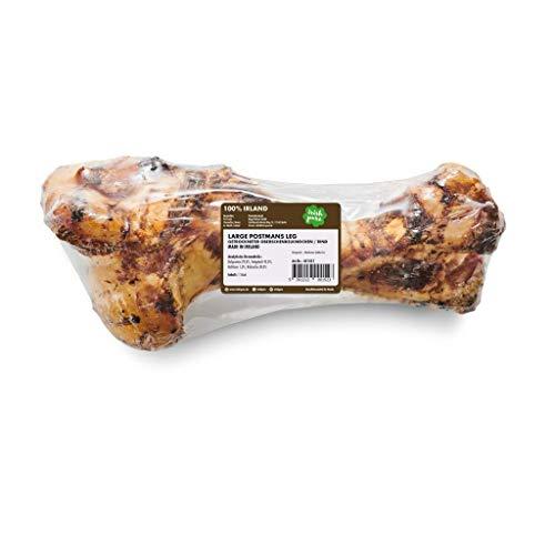 Irish Pure Large Postmans Leg - Getrockneter Oberschenkelknochen, Riesen Hunde Kauknochen, 100% Natürlicher Hundeknochen, Snack, Hundeleckerli, Hundesnack Getreidefrei, Kausnack (Large Postmans Leg)