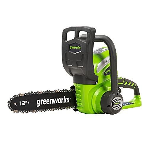 Greenworks Motosierra de batería G40CS30 (Li-Ion 40 V 4.3 m/s velocidad de...