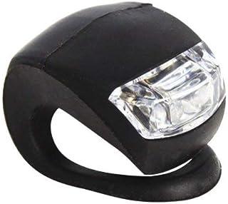 YAMI 高輝度LED2灯 シリコン 自転車 (ブラック) フロントライト