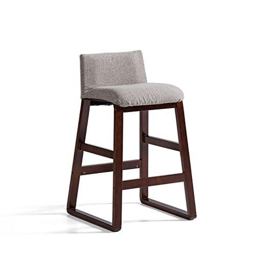 POPA Chaise Pliante Tabouret de Bar, Chaise Moderne Simple de Barre de Bois Solide, Chaise de Tabouret de Bar, Taille de Chaise Haute d'art de réception de Bureau: 48 * 48 * 81.5cm (Couleur : E)