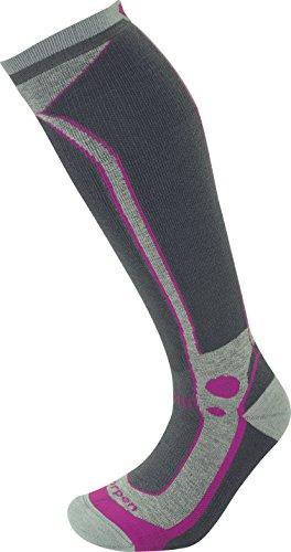 Lorpen Damen T3 Ski-Socken, mittelschwer, Hellgrau, Größe M