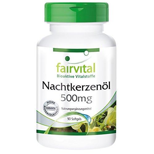Aceite de Onagra 500mg - Dosis elevada - 90 Cápsulas blandas - rico en GLA - Calidad Alemana