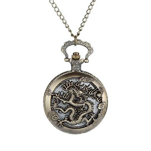 Best Prices! Muranba 2019 ! Vintage Flower Pocket Watch Quartz Necklace Chain Men Women for Girls Gi...