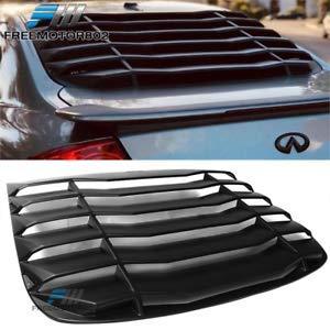 Billion_Store Fits 03-07 Infiniti G35 Coupe Rear Window Louver PP -Unpainted Matte Black Cool Tuning