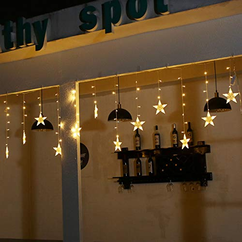 Curtain Fairy Lights Plug-in 8 Modes Remote Control Fairy String Lights for Party Indoor Bedroom Patio Outdoor Garden Decorations Fairy Lights Christmas Decoration, 2.5m Different Size Firefly Lights