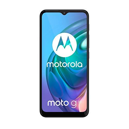 """Motorola Moto g10 (Pantalla de 6.5"""" Max Vision HD+, Qualcomm Snapdragon, sistema de 4 cámaras de 48 MP, batería de 5000 mAH, Dual SIM, 4/64 GB, Android 11), Blanco Perla [Versión ES/PT]"""