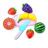 Tree-on-Life A0601 Juego de Corte de Frutas Juego de Roles Pretender Juguete de Comida de Vegetales y Frutas Reutilizables