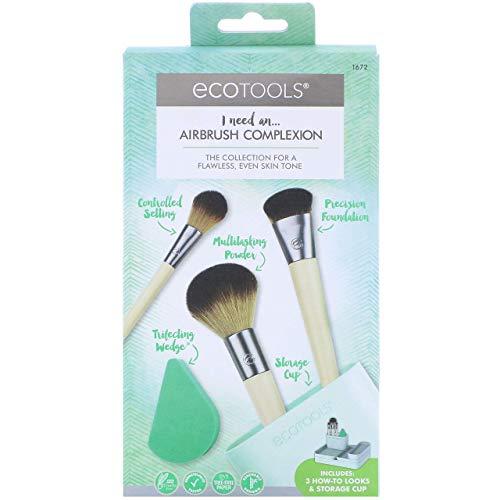 Ecotools Airbrush complexion kit - set de 4 brochas + esponja 21 g