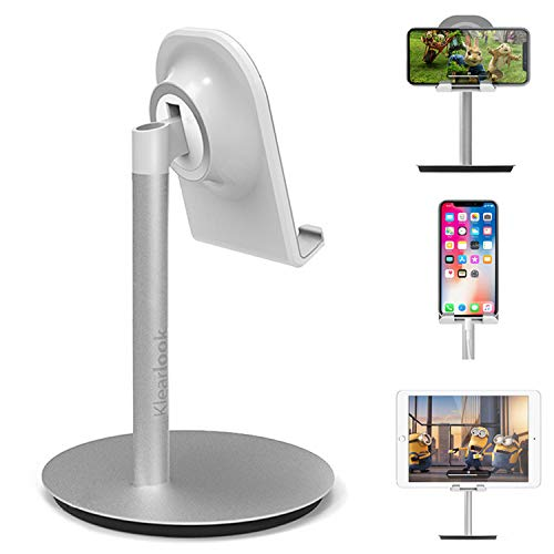 Cell Phone Stand, Klearlook 10-45 Degree Angel Adjustable Phone Stand, Desktop Phone Holder Compatible with iphone Galaxy Smartphones Tablet