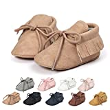 Ohwawadi Baby Boys Girls Moccasins Sneakers Soft Infant Slippers Newborn Booties Crib Shoes Prewalker First Walker Shoes