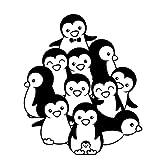 5 Piezas 13,6 cm * 16,1 cm pingüinos decoración Coche Pegatina Motocicleta Vinilo calcomanía