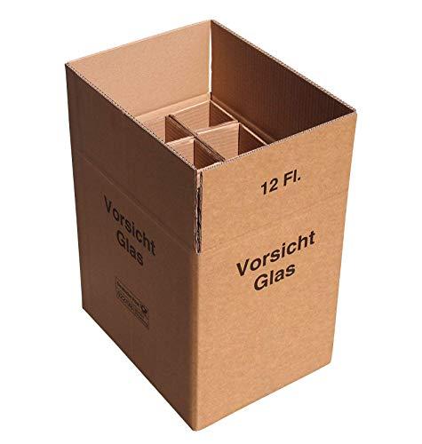 15 x 12er Weinkarton Versandkarton 2-wellig für je 12 Flaschen UPS und DHL geprüft
