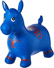 Stable 4 legged Space Hopper, Bouncy Horse. Inflated size appr. Length: 60cm/23in from nose to tail; Seat height: 28cm/11in; Body height: 50cm/20in from ear to floor. Lab tested, contains no US banned phthalates and heavy metal elements. Conforms to ...