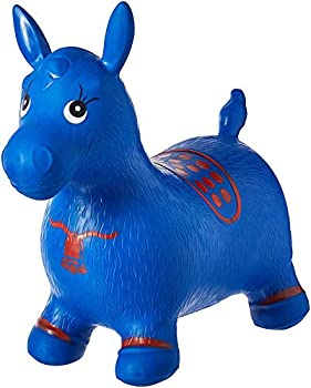 AppleRound Blue Horse Hopper Pump Included  Inflatable Space Hopper Jumping Horse Ride-on Bouncy Animal