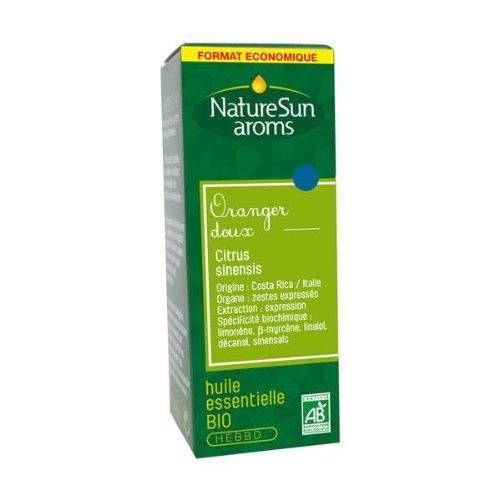 NatureSun Aroms Huile Essentielle Oranger Doux (Citrus sinensis) Bio Format Economique 30 ml