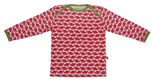 loud + proud Baby Jungen Langarm aus Bio Baumwolle, Gots Zertifiziert Sweatshirt, Pink (Rosenrot ), 74-80 EU