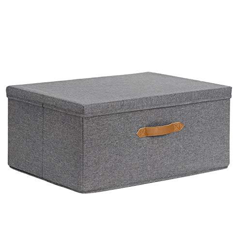 STORE IT 672562 Ordnungsbox groß, mit Deckel, Polyester/MDF, grau, 54x40x25cm