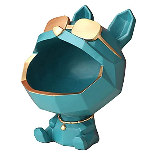 Whyzb Escultura Estatua de Perro Hecha de Resina sintética, Escultura, hogar, Mesa, Cachorro, decoración, Caja de Almacenamiento (Color : 1)