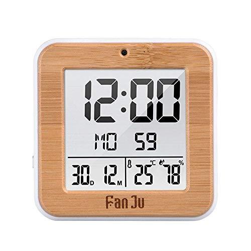 orologio da parete 80 cm diametro TTbaoz Diametro 80Cm Mini Orologio da Parete Digitale Portatile Temperatura umidità Doppio Display LCD Orologio Digitale Snooze Data Termometro Scrivania Orologio da Tavolo