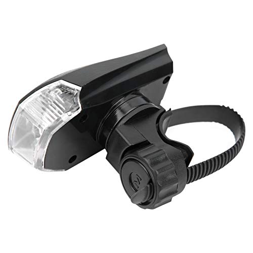 Qqmora Luz Delantera de Bicicleta LED Sistema de detección de Faros Delanteros de Bicicleta Lámpara Delantera de Bicicleta Aleación de Aluminio + Plástico ABS Batería de Litio de polímero de 1200