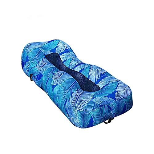 Cama Plegable portátil al Aire Libre Oficina Break Break Sofa Beach Camping Colchón Inflable Colchón Flotante Fila Sofá Inflable rápido